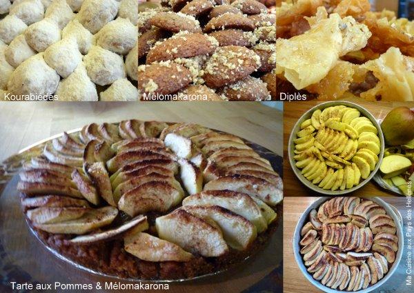 Tarte aux Pommes et Mélomakarona