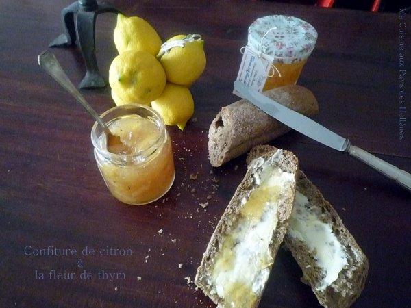 Confiture de citron à la fleur de thym